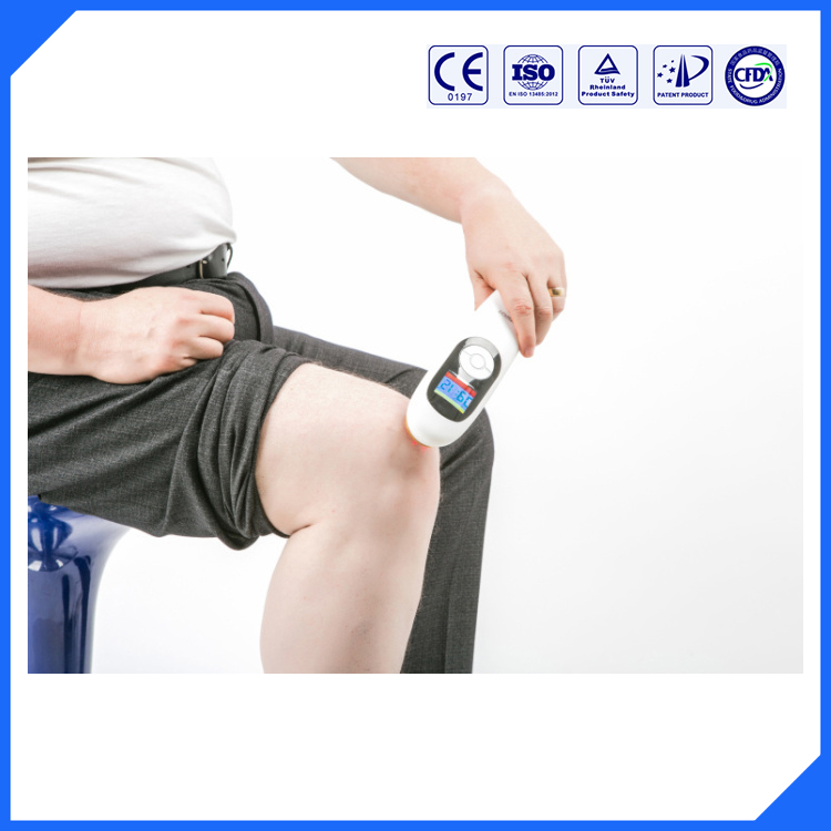 household cold laser 650nm and 808nm pain relief device physiotherapy factory price cold laser pain relief intrument solf low lllt laser theray 650nm and 808 nm