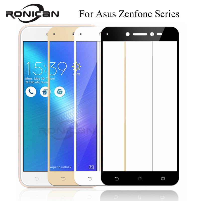 FUll Cover Tempered <font><b>Glass</b></font> For <font><b>Asus</b></font> Zenfone 3 Max ZC520TL ZB553KL ZD553KL <font><b>ZC553KL</b></font> ZE520KL ZE552KL Live ZB501KL Screen Protector image