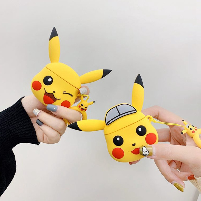 Pokemon <font><b>Pikachu</b></font> Wireless Bluetooth Earphone <font><b>Case</b></font> For Apple <font><b>AirPods</b></font> Silicone Headphones <font><b>Cases</b></font> For Airpods2 Protective Cover image