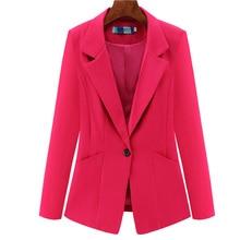 Women's Jacket 2019 Autumn Korean Slim Long Sleeve Double Pocket Small Suit Office Casual Women's Blazer все цены