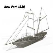 1830 New Port Wooden Assembled Western Classic Sailing Ship 1/70 Baltimore Schooner Assembly Ship Model Toys