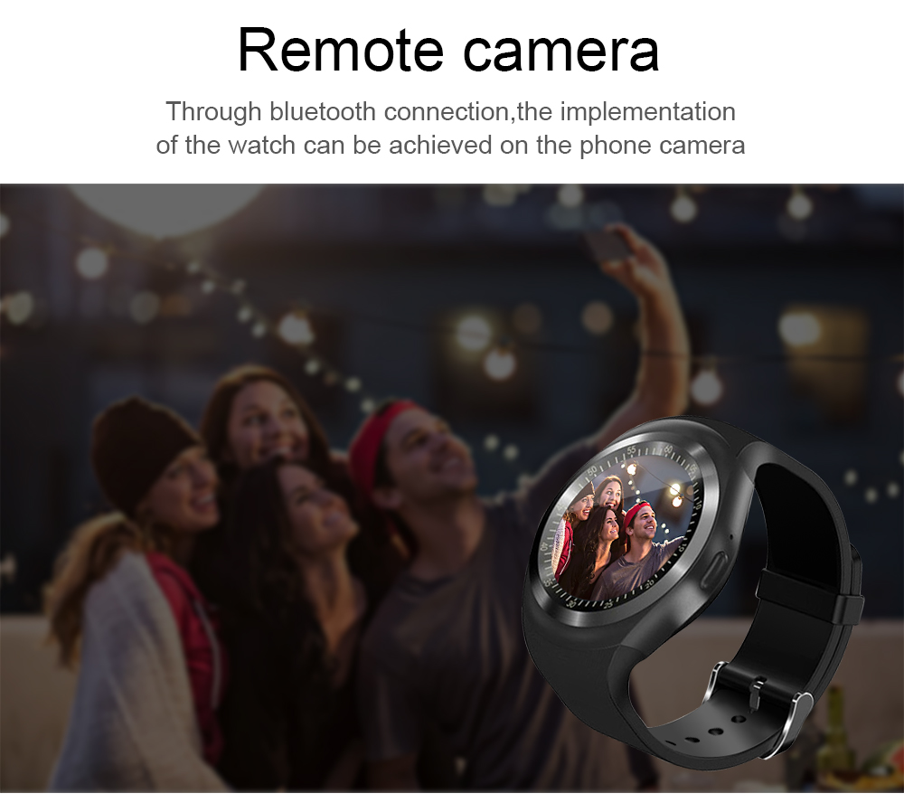 696 Bluetooth Y1 Smart Watch Relogio Android SmartWatch Phone Call GSM Sim Remote Camera Information Display Sports Pedometer 9
