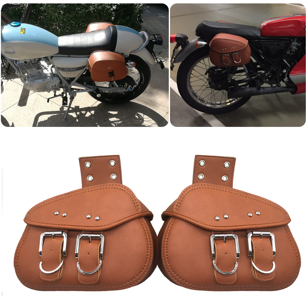 Motorcycle Saddle Bag Side Baggage Storage Small Triangle Side Bag Waterproof Sport Edition PU Leather Storage Tool Harley in Covers Ornamental Mouldings from Automobiles Motorcycles