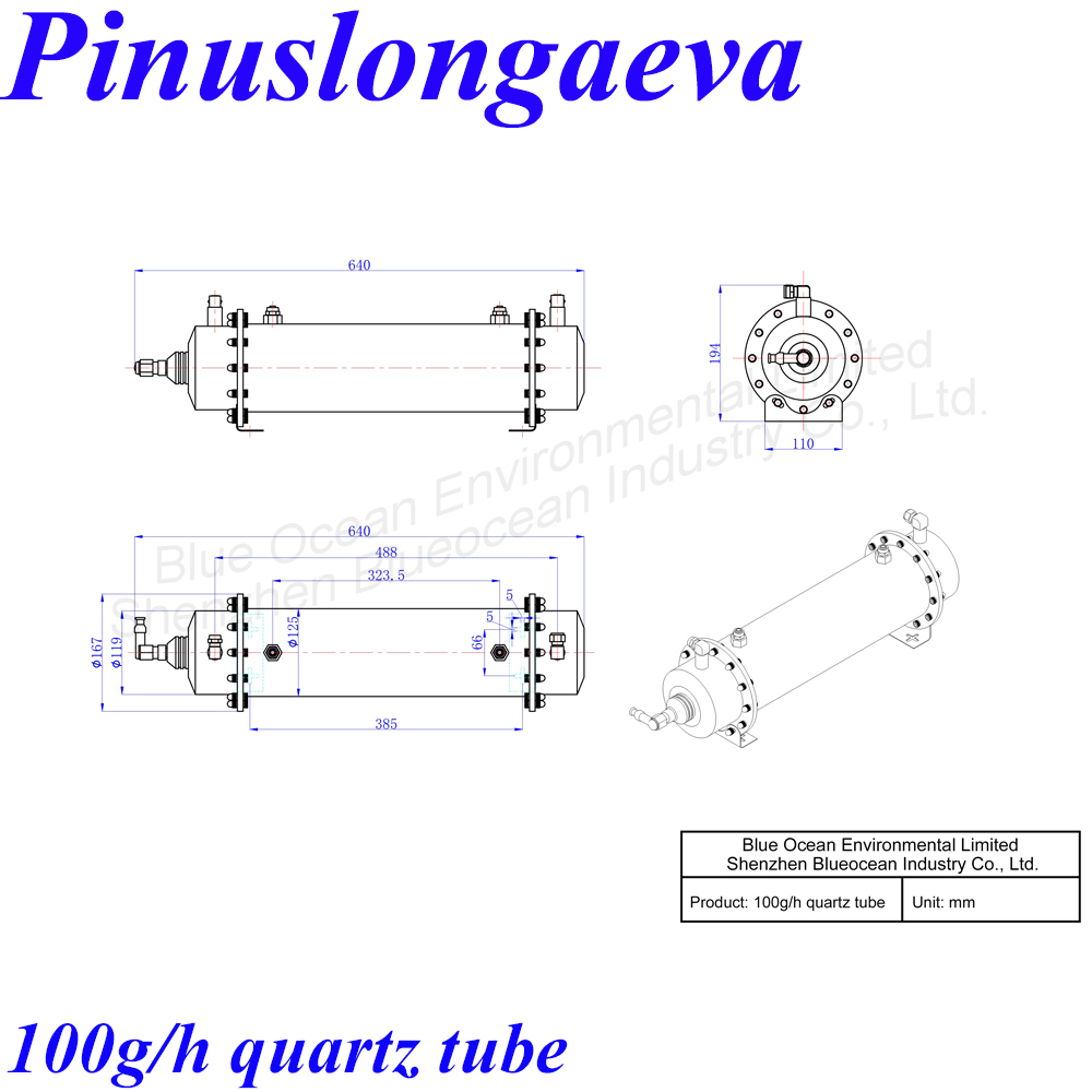 Pinuslongaeva Ce Emc Lvd Fcc 100g H Quartz Tube Type Ozone Generator Circuit Kit Oem Sterilizing Medical Sewage Treatment In Air Purifier Parts From Home