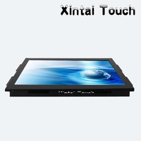 VGA Mental 19 Inch Open Frame Touch Monitor 4 Wire 5 Wire Resistive LCD Touch Screen