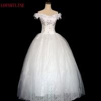 2016 New Arrival Bride Wedding Dress Formal Dress Bandage Double Shoulder Slit Boat Neck Slim Puff