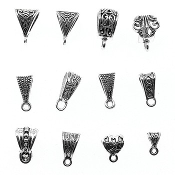 Connector Charms Bail Beads Antique Silver Color Bail Beads Charms Jewelry Findings 1