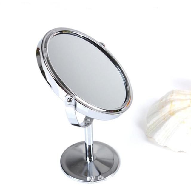 Double Sided Makeup Vanity Table Make Up Mirror Standing Metal Compact Mirrors Portable Magnifying