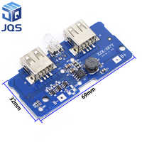 18650 Dual Micro USB 3.7V to 5V 2A Boost Mobile Power Bank DIY 18650 Lithium Battery Charger PCB Board Step Up Module With Led