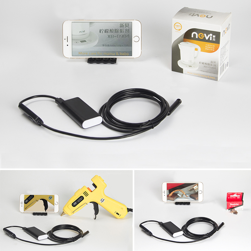 Antscope Wifi Endoscope Iphone HD Camera 8mm Lens 5M Snake Tube USB Pipe Inspection Borescope Android IOS HD Endoskop Camera antscope wholesale 7mm lens mini usb android endoscope camera waterproof snake tube 2m inspection usb borescope endoskop camera
