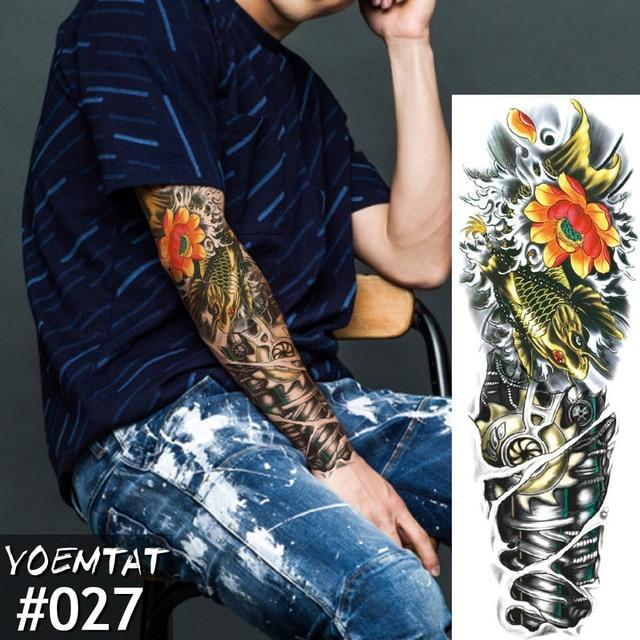 Waterproof Temporary Tattoos Sticker Color Mechanical Full Flower