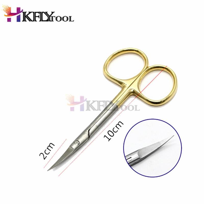 Высокое качество 9,5 см изогнутая головка обычные медицинские хирургические глазные ножницы для красоты ножницы для мягких тканей