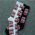 1 par/lote Feliz Crew Socks Meias Creativa Novedad Coke botella de Hip Hop Monopatín Calcetines de Algodón Unisex Divertido de Algodón Casual calcetín
