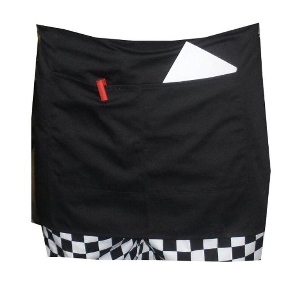 White apron cape town - Durable Unisex Short Waist Apron With Pocket For Chef Waiter Waitress Black