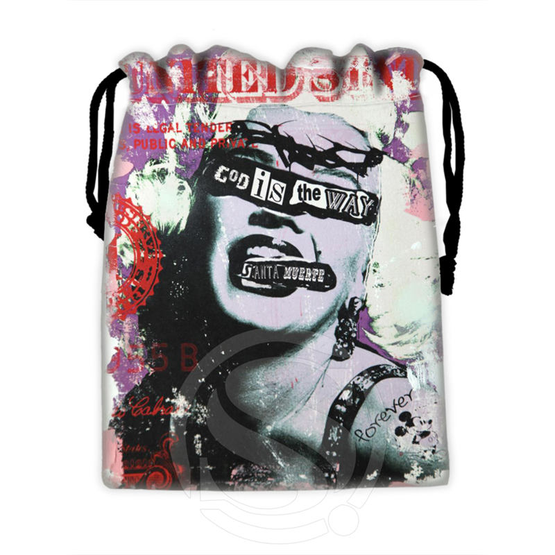 H-P746 Custom Marilyn Monroe collage#5 drawstring bags for mobile phone tablet PC packaging Gift Bags18X22cm SQ00806#H0746