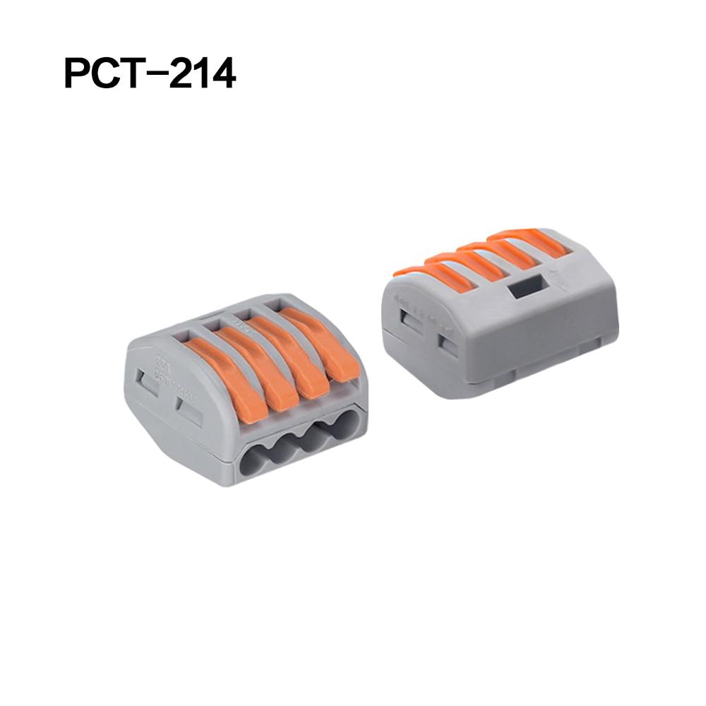100/20/10 шт. 222-412 222-413 222-415 клеммы соединители 0,08-2,5 мм мини-разъем провода Проводник винторезный станок сплиттер - Цвет: 222-414