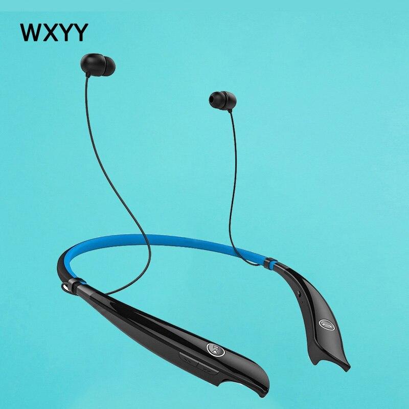 все цены на WXYY Sports Wireless Bluetooth Earphone Waterproof Stereo Headphone Deep Bass Headset with mic Neck Running for xiaomi Iphone онлайн