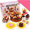 New Arrival Children play house toys 73 Kitchen Cookware Set fruit birthday cake honestly see creative