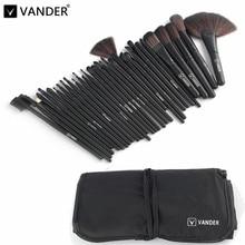 Professional Makeup Brush Set 32 Pcs/set Makeup Brushes Eyebrow Eyeliner Powder Tools Toiletry Kits Pinceaux Maquillage Black