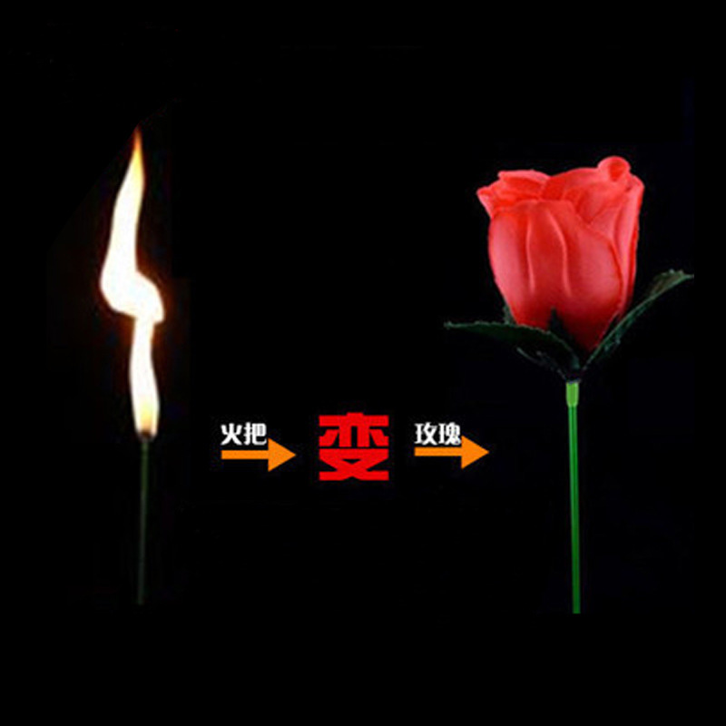 Valentine's Day Present Torches Change Roses Magic Tricks Funny Novelty Surprise Prank Joke Mystical Fun Toy