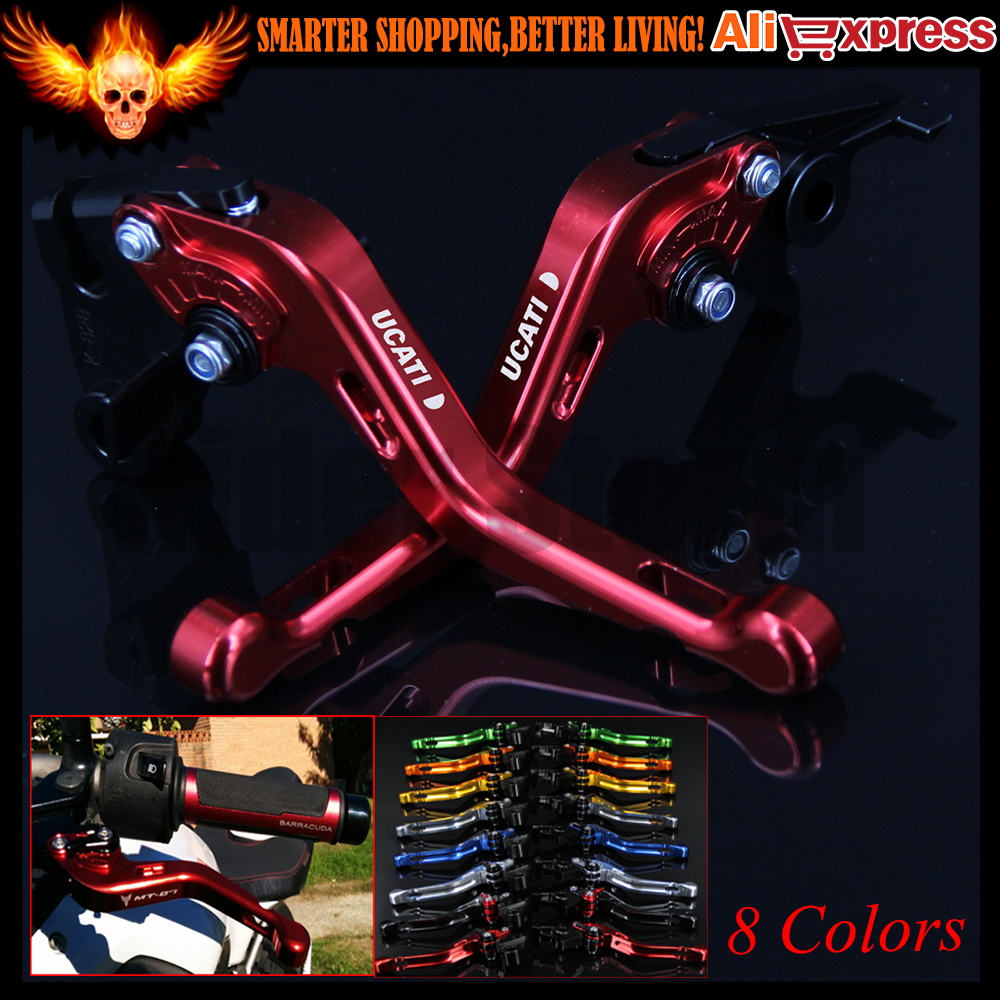 ФОТО 8 Colors New CNC Aluminum Red Motorcycle Short Brake Clutch Levers for Ducati STREETFIGHTER /S 2009 2010 2011 2012 2013