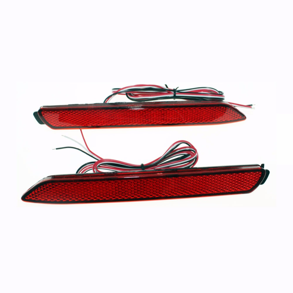 for Toyota Camry/Innova/Lexus ISF/GX470/RX300 LED Red Car Tail Light Parking Fog Lights Brake Rear Bumper Reflector Lamp