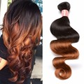 7A Ombre Brazilian Hair Extensions Body Wave Color #1b/30 Brazilian Body Wave Ombre Human Hair Weaves