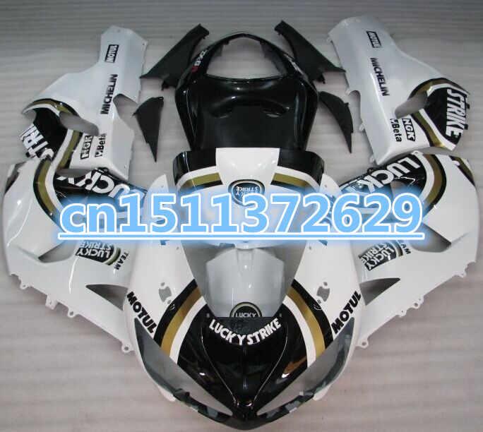 LUCKY STRIKE обтекатель для KAWASAKI NINJA ZX 6R 636 05 06 ZX-6R 05-06 ZX6R 2005 2006 ZX 6R 05 06 Обтекатели белый черный-D