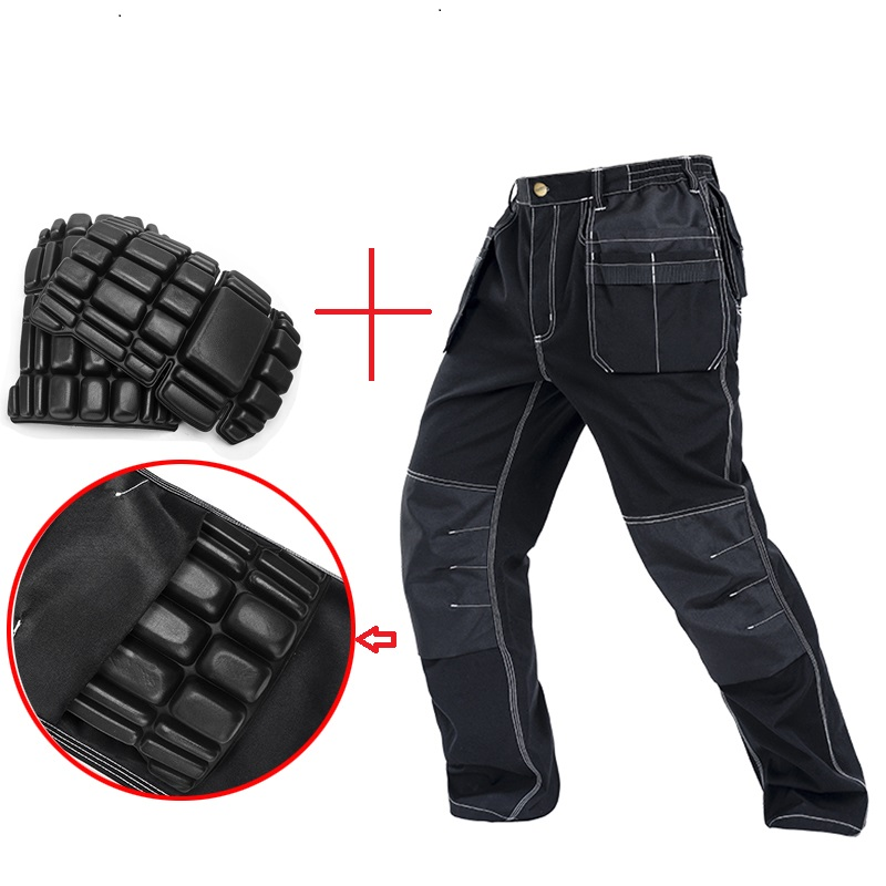 Men working pants multi pockets work trousers with removable eva knee pads top quality worker mechanic cargo work pan New 2019Men working pants multi pockets work trousers with removable eva knee pads top quality worker mechanic cargo work pan New 2019