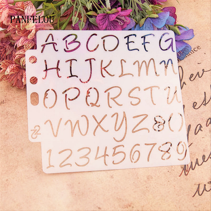 Hote Sale capital letters scrapbook stencils spray plastic mold shield DIY cake hollow Embellishment printing lace ruler|Embellishments|   - AliExpress