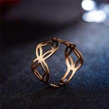 Новинка, модное Золотое кольцо в форме цветка для женщин, Панк Сплав, кольца на палец, простые ювелирные изделия в стиле бохо