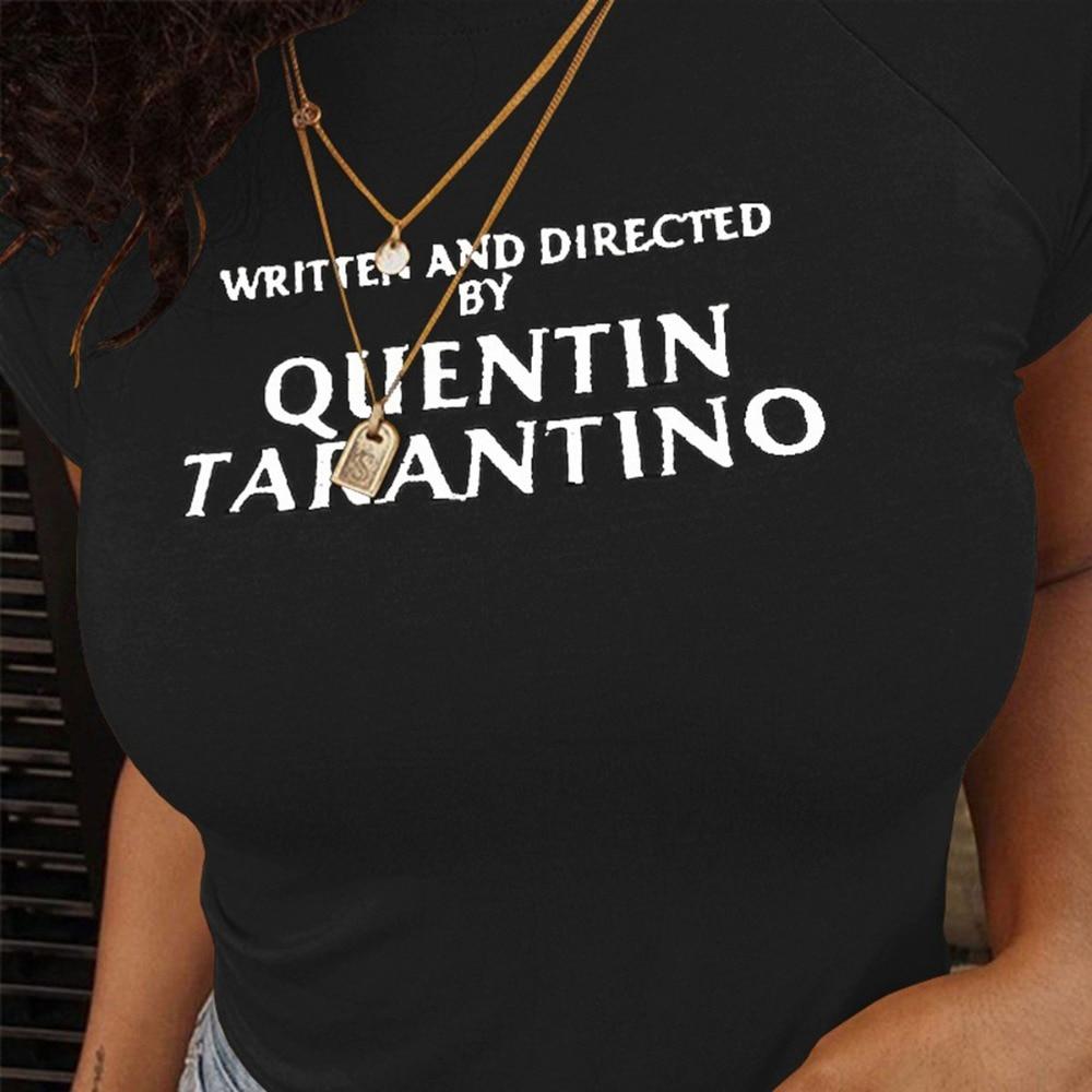 De Algodón Camisa Quentin Mujer Tarantino Tops Amarillo Camiseta T Manga Corta Mujeres Sexy hdCtsQr