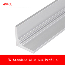 купить 2pcs length 500mm 4040 Type L Aluminium Profile Long Angle Plate EN CE ISO DIY Brackets AL 3D Printer 40*40*5mm дешево