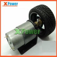 Wholesale XPower 37mm Diameter 12v 180rpm 5kg Cm Gear Motor Mounting Bracket Shaft Coupling Screw Tire