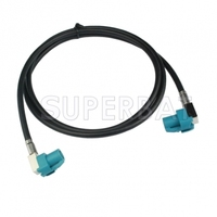 Superbat HSD Cable Assembly Z Coding Right Angle Female Jack To Z Coding Right Angle Jack