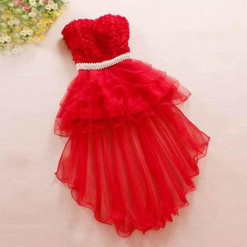 2019 New Version Of Korean Style Irregular Women Dress Swallowtail Dress  Vestidos Mujer Beading Floral Dress d8568c31fae4