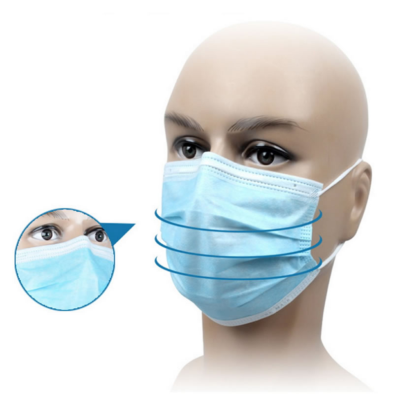 100 Pcs Disposable Anti-bacteria Against Dust Mask Respirator For Medical Dental Treatment And First Aid Kit Supplies