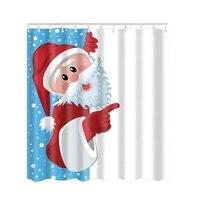 シャワーカーテン冬ホリデーチャーミングメリークリスマス雪だるまポリエステル防水生地風呂でリングシャワーカーテ