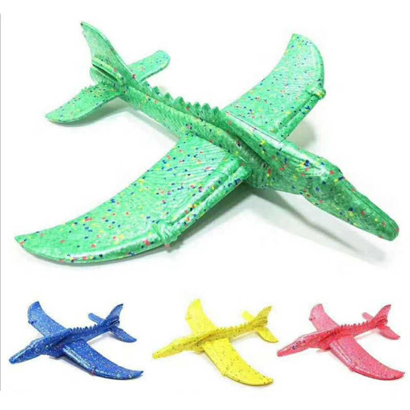 Inertial Foam EPP Airplane Dinosaur Train Dragon Plane 48cm Hand Launch Throwing Glider Aircraft Model Outdoor Educational Toys
