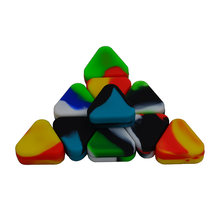 10pcs Triangle Lego Wax Silicone butane Oil Container or silicone wax concentrate jar-Bho Non Stick Slick oil Trigon Dab wax jar(China)