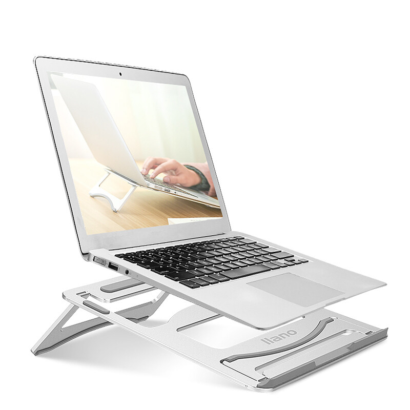 Image 5 - Silver Aluminum Laptop Stand Tablet Stand Universal for Apple MacBook Air Pro 11 15 inches Folding Adjustable Office Notebook-in Laptop Stand from Automobiles & Motorcycles
