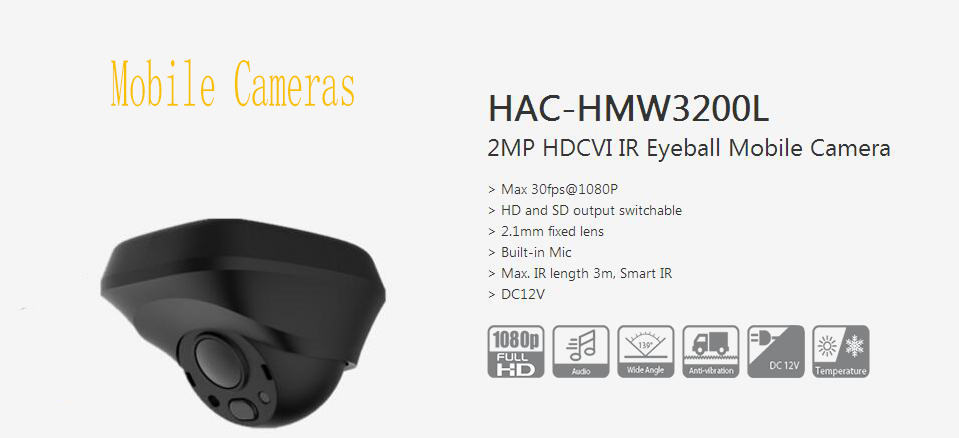 все цены на Free Shipping Original English DAHUA Security Camera CCTV 2MP HDCVI IR Eyeball Mobile Digital Video Camera No Logo HAC-HMW3200L онлайн
