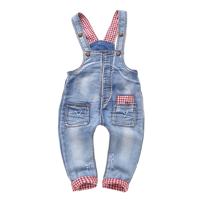 d7da66c13821 12m-5t Kids clothing Cotton Baby Long Pants Overalls Girls Boys Jeans  Jumpsuit Children Rompers Toddler Clothes High Quality