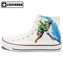 Mens Converse Sneakers Designer Hand Painted Shoes The Legend Of Zelda Women Brand Shoe Chuck Taylor