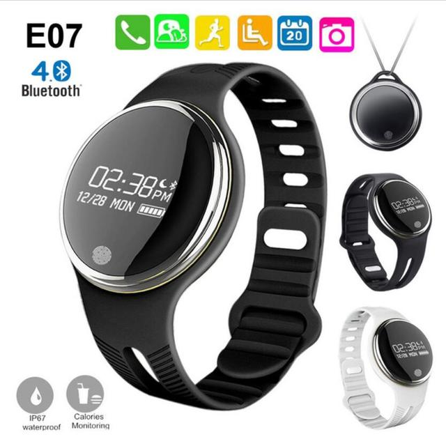 E07 Bluetooth 4.0 Sports Smart Bracelet IP67 Waterproof Fitness Tracker Smartband Call Reminder for Android iOS Smart Band