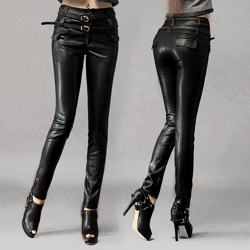 Womens Leather Leggings
