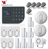 YoBang безопасности WI FI GSM сигнализация Системы Испания Русский Голос охранной сигнализации Системы дома безопасности IP Камера приложение упр