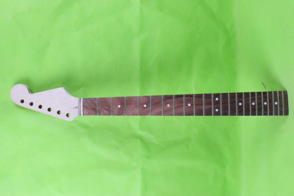 25.5    Electric guitar neck      mahogany made Bolt on rosewood     fingerboard fine quality  22  fret  003# black color 24 frets holt on one electric guitar neck mahogany wood and rosewood fingerboard 171