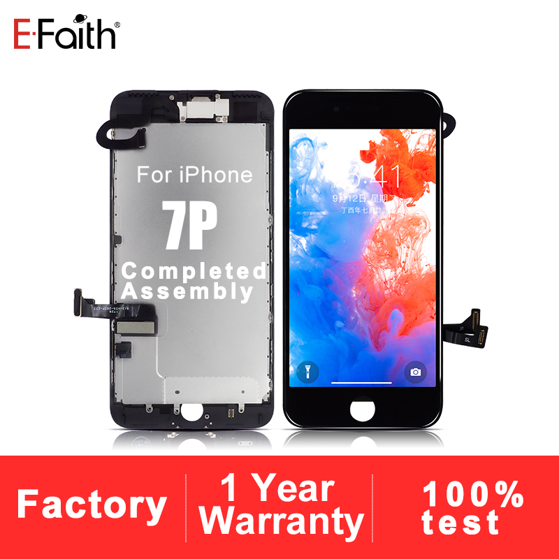 Lcd-Or-Display iPhone 100pcs 7-Plus for with Free-Dhl Aaa-Grade Complete Efaith