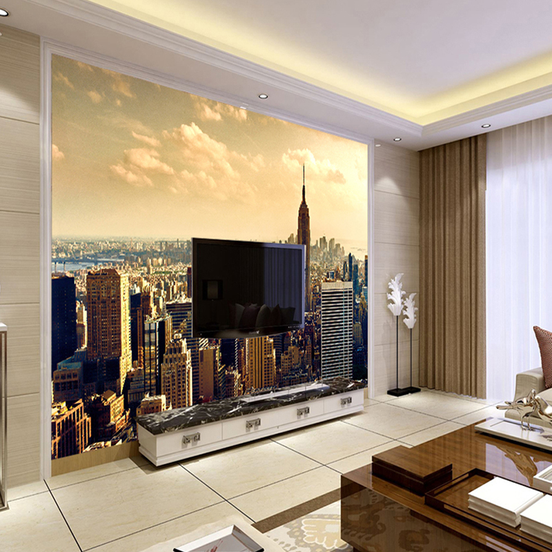Custom Mural Wallpaper Modern City Building Scenery Living Room Sofa TV Background Wall Painting Photography Photo Wallpaper 3D book knowledge power channel creative 3d large mural wallpaper 3d bedroom living room tv backdrop painting wallpaper